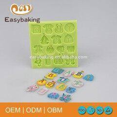 High Quality Multi Shapes Alphabet Cake Decoration Silicone Fondant Mold