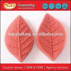 Wholesale leaves sugarcraft veiner silicone mold cake decoration