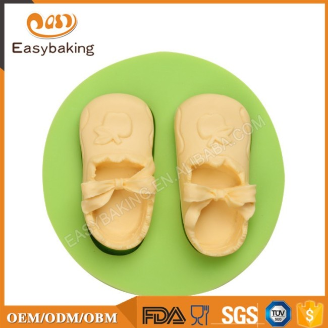 Baby Girl Slippers shape 3D Mouldy Silicon For Pastry