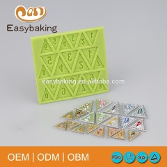 Triangle Coloured Flags Number 0-9 Silicone Molds For Cake Decoration Biscuits Candle Jewelry