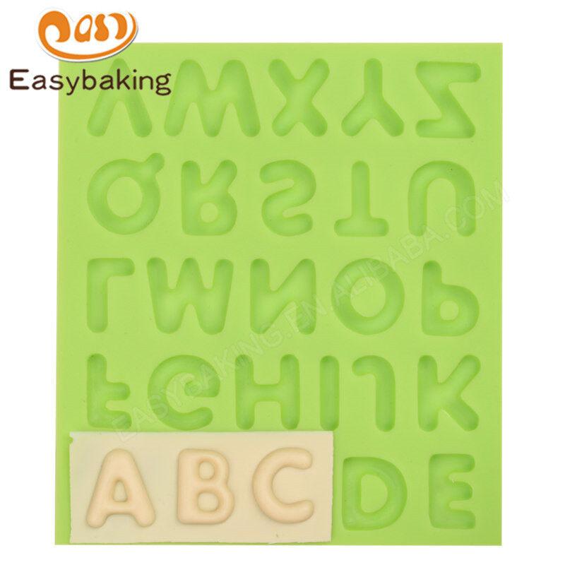 Fondant Mold 3d Alphabet Silicon Mould