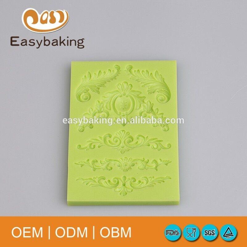 European Pattern Silicone Cake Decoration Molds Silicone Fondant Mold