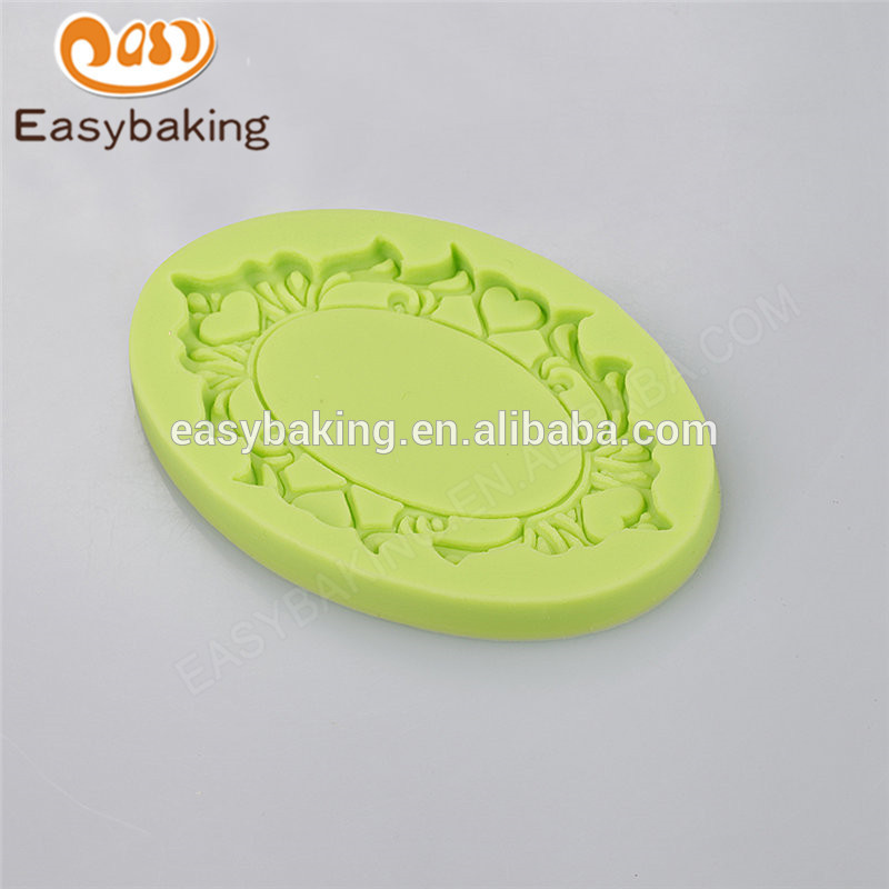 Attractive price new type 109*73*10 silicone chocolate cake mould