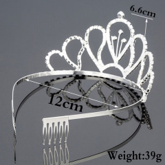 Wedding Crown Queen Bridal Tiaras and Crowns kids Headbands Wedding Accessories Hair Jewelry Ornaments Hair Jewelry
