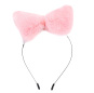 Women Cat Ears Headband Hairhoop Wool Lovely for Anime Cosplay Birthday Party Halloween Women Party Christmas Headband