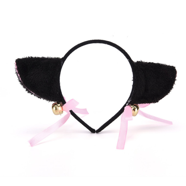 Lovely Bell Cat Ear Hairband Women Fashion Cute Hairwear Charming Lovely Fox Fur Ear Hair Band