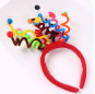 Fashion Colorful Spring Pompon Funny Hairband for Girl Kids Carnival Hair Accessories Headband Headwear For Party Supplies Gift