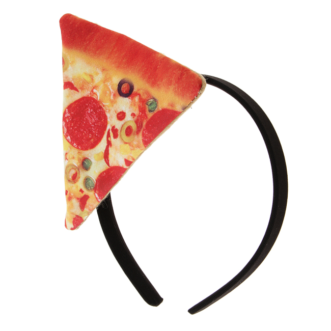 Holiday Pizza Fast Food Headband Fancy Dress Party Headdress Halloween Carnival Hen Night Women Cosplay Hair Accessories