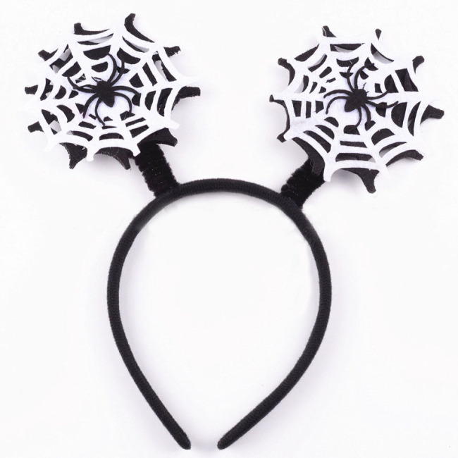 Cobwebs Spider Web Headband Girls Fashion Hair Hoop Lovely Gift Halloween Party Photo Props Carnival Headwear Decor Accessories