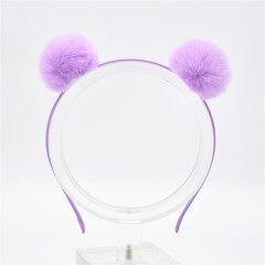 Sweet Girls Cute Rabbit Plush Big Hair Ball Headband Hoop Cat Ears Hairband Tiara Hair Accessories