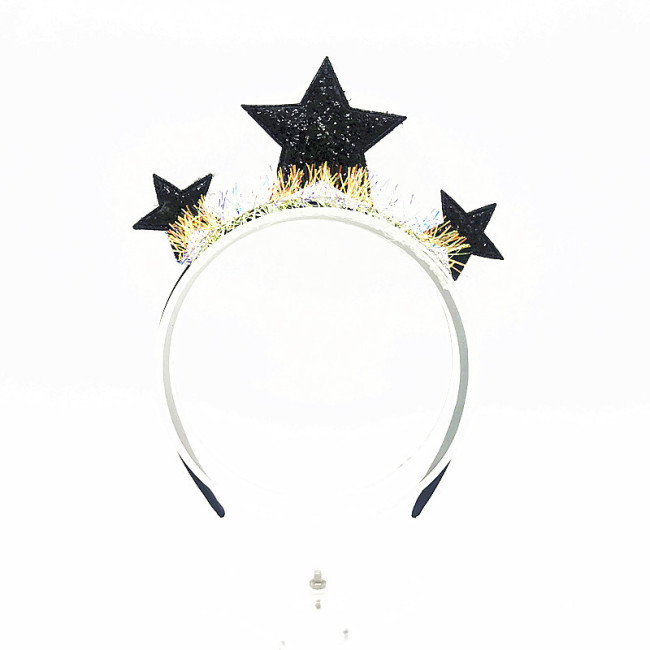 Star Girl Kids Headband Hairband Headband Hair Hoop for Halloween New Year Carnival Party Headdress Gifts