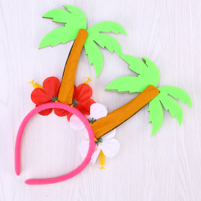 Hair Hoops Carnival Coconut Tree Party Headdress Head Decoration Head Accessory for Party Carnival Festival