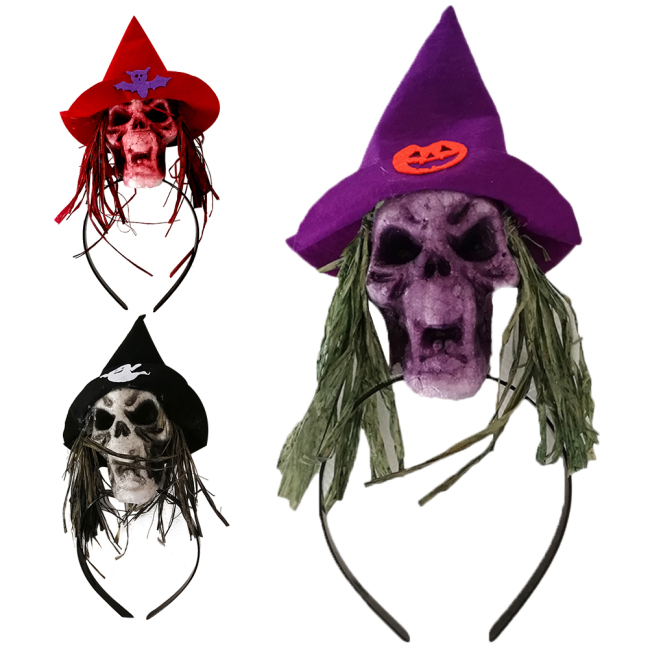Head Band Creative Special Creepy Unique Foam Durable Skull Cosplay Headdress Hair Hoop Supplies for Carnival Halloween