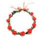 Women Girls Wedding Party Crown Flower Headband LED Light Hair Wreath Hairband Garlands Glow Birthday Neon Party Decor