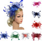 Headpiece Feather Flapper Headband Headdress Vintage Wedding Dress Floral Garland Girls Headpiece Carnival Party Decor