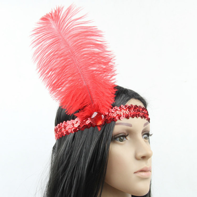 Indiana Headdress Feather Ethnic Colorful Headpiece for Costume Party Cosplay Photography Carnival