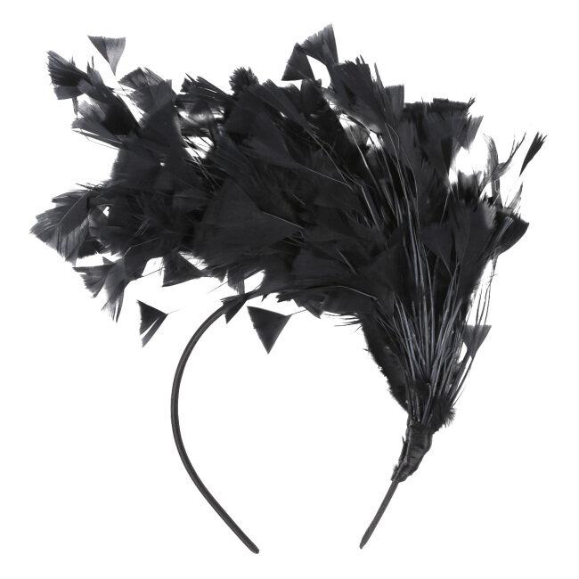 Women Girls Feather Headband Hair Hoop Fascinator Headpiece Carnival Masquerade Bridal Headwear Hair Accessories
