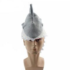 Animal Shark Cosplay Costume 3D Hat Creative Individuality Fancy Cap Eat Man Prank Shark Hat