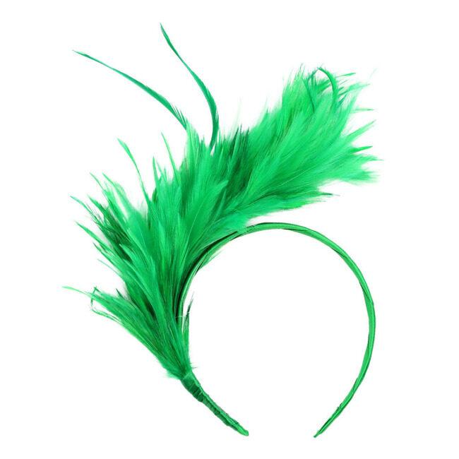 Vintage Colorful Burlesque Headpiece Headbands Flapper Ostrich Feather Fancy Fascinator Accessories Headdress Hair Bands Head