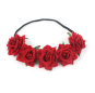 Pretty Rose Flower Halo Bridal Floral Hair Band Crown Crown Mint Head Crown Party Bridal Headdress Bridesmaid Decorations