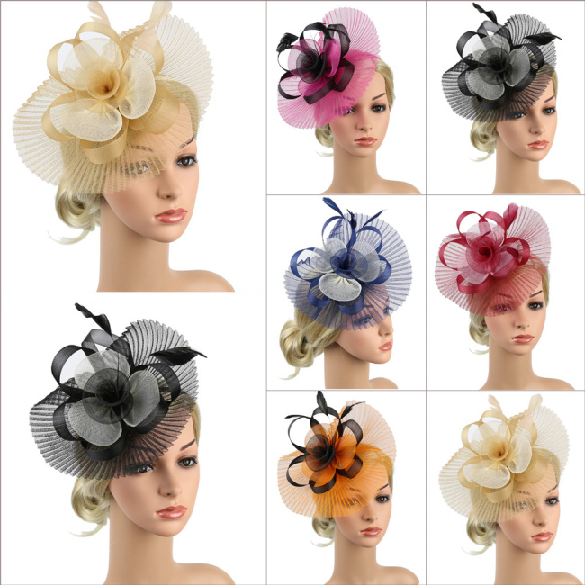 Fashion retro women's Flower fascinator headband Beautiful ladies flower Alice band hairband headwear