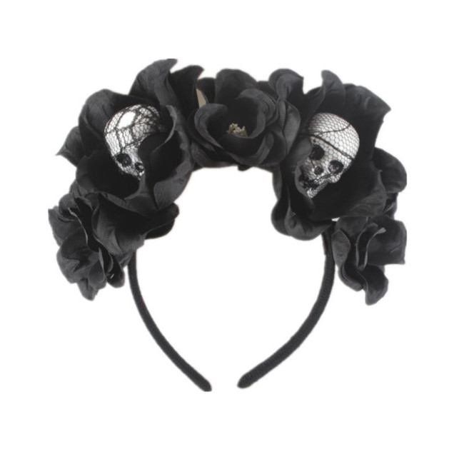 Hair accessories for halloween Skull shape Adjustable Headband Headdress Cute Flower Prom Accessories