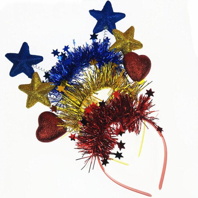 Heart Star Shape Spring Headband Hairband Ornament Costume Headwear Cute Hair Accessories Purim Carnival Party Decoration