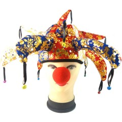 Party Supplies The Clown Hat With Bell Halloween Decoration show headdress Funny Costume Ball Cosplay craft jester cap tiaras