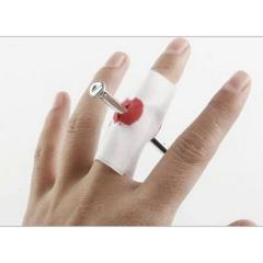 Nail Through Finger With Bandage Fake Bloody Novelty Fancy Dress Prank Party Prank Thru Thumb Bloody Gauze Fake Halloween