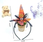 Halloween Girls Headband Orange Witch Cosplay Headdress Kids Pumpkin Hair Hoop Clip For Kids Party Decor