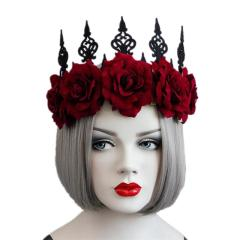 Headband Rosettes Crown Fashion Retro Unique Headdress Accessories for Dancing Party Halloween Women Ladies