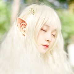 Latex Elf Ears Pointed Cosplay Mask Accessories Halloween Masquerade Party Anime Fairy Costumes Deep Color