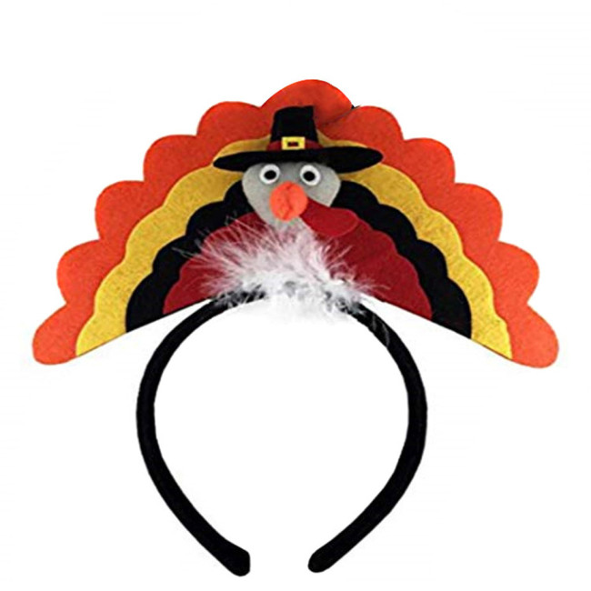 Thanksgiving Decoration Turkey Headband Costume Headband Party Accessory Birthday Party halloween costume for kids Carnival