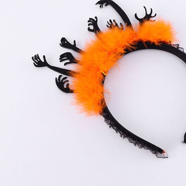 Halloween Carnival Headdress Evil Hand Headband Hair Hoop Party Cosplay Costume Accessory Party Decor Supplies