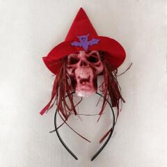 Head Band Creative Special Creepy Unique Foam Durable Skull Cosplay Headdress Hair Hoop Supplies for Carnival Halloween