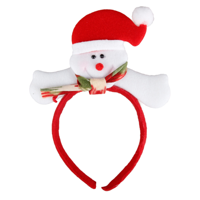 Snowman Christmas Headband Santa Claus Hat Christmas Party Supplies Adult Children Headdress Wedding Decoration