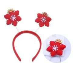 Christmas Hairband Red Snowflake Decorations Headdress for Masquerade Party