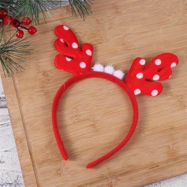 Cute Elk Headband For Christmas Party Headdress Beautiful Party Supplies Christmas Hair Hoop For Children Kids Xmas