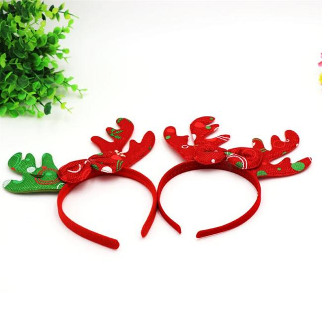 Antlers Christmas Headband Hair Band Headdress Hair Hoop Hair Accessory Party Favors Photo Props for Cosplay Masquerade
