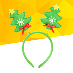 Christmas Headband Lovely Christmas Tree Hair Hoop Hairband Headwear Headpiece Headdress Christmas Masquerade Party Accessories