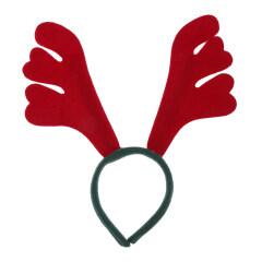 Christmas Headbands Headdress Tiara Cute Christmas Elk Red Deer Horn