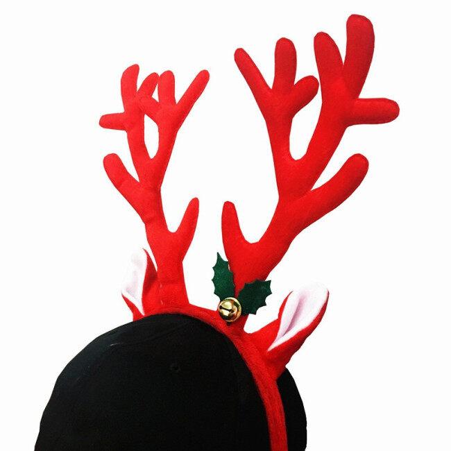 Christmas Santa Claus Plush Hat Antlers Fancy Dress Costume Accessory Cute Fashion Christmas Deer Hat