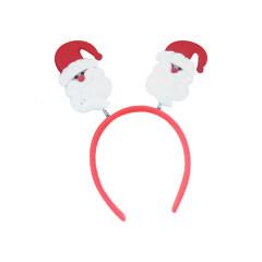 Christmas Headband Snowman Santa Claus Deer Horn Headdress Cat Ear Headband Kids Adults Hair Accessories Party Decor Photo Props