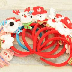 Christmas Headband Lovely Luminous Santa Claus Headpiece Hair Hoop Headdress Hairband Headwear Christmas Party Accessories