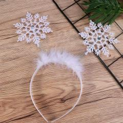 Christmas Headband Adorable Hair Bands Cute Snowflake Hair Hoops Kids Snowflake Headdress Party Favors Supplies Decorations