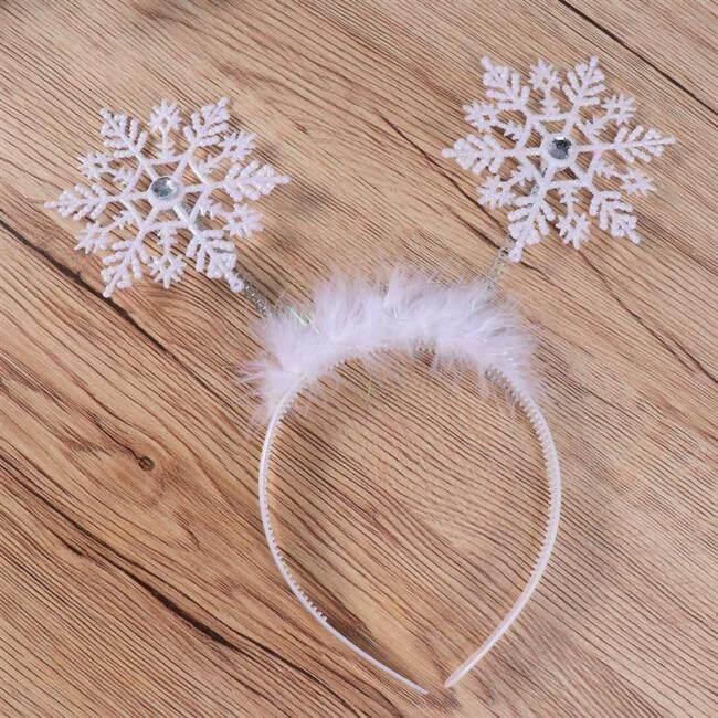 Christmas Headband Adorable Hair Bands Cute Snowflake Hair Hoops Kids Snowflake Headdress Party Favors Supplies Decorations
