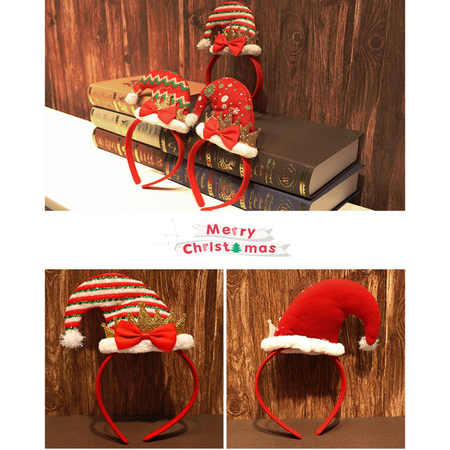 Party Headdress Headband Christmas Stretch Headwear Hair Band Decorative For Home Santa Clause Merry Christmas Party Decorations