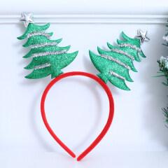 Christmas Tree Hair Hoop Beautiful Decorative Cloth Hair Band Headdress Hair Hoop Photo Props Accessories