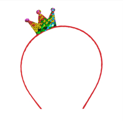Creative Sequins Headdress Hair Accessories Crown Children's day Headband Christmas Birthday Party Supply
