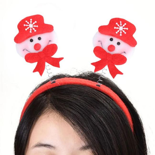 Christmas Hair Hoop Decorative Headband Santa Hat Bell Exquisite Headband Hair Accessory Hair Hoop Headdress For Kids Adults